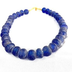 Jewelry - Lapis Blue Chunky Boho Seaglass Necklace